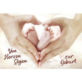 Faltkarte: Von Herzen Segen zur Geburt