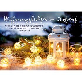 Faltkarte: Hoffnungslichter im Advent