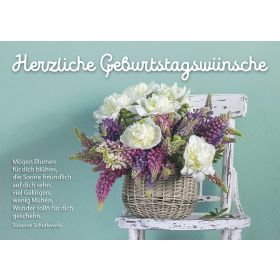 Postkarten: Herzliche Geburtstagsgrüße, 12 Stück