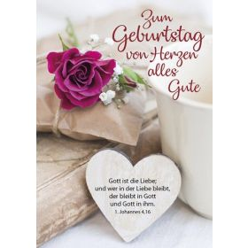 Postkarten: Zum Geburtstag von Herzen alles Gute, 12 Stück