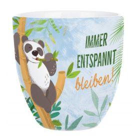 Tasse Panda: Immer entspannt bleiben!