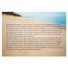 Spuren im Sand - Postkarte