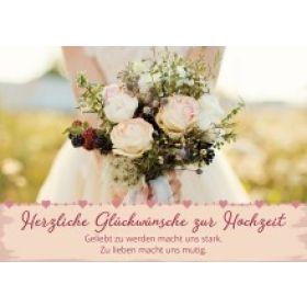 Faltkarte - Herzliche Glückwünsche zur Hochzeit!