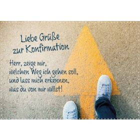 Faltkarte - Liebe Grüße zur Konfirmation