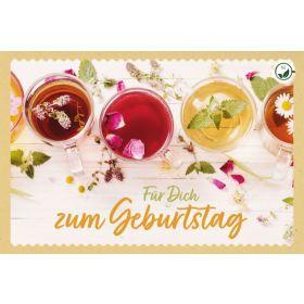 Teekarte - Für Dich zum Geburtstag