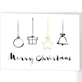 Faltkarte - Merry Christmas