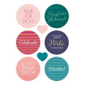 Postkarte - Nur für Dich (Sticker)