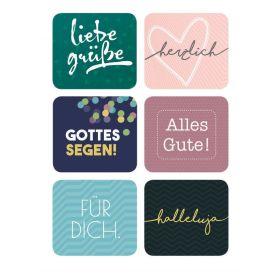Postkarte - Liebe Grüße (Sticker)