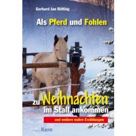 Als Pferd und Fohlen zu Weihnachten im Stall ankommen