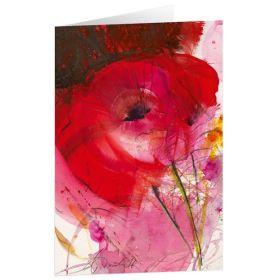 """Kunstkarten """"Traum in Rot"""" - 5 St."""