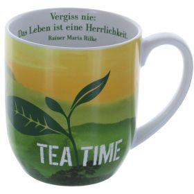 """Die Tasse mit Inhalt """"Das Leben ist eine Herrlichkeit"""""""
