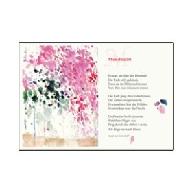 """Kunstkarten Lyrik """"Mondnacht"""""""