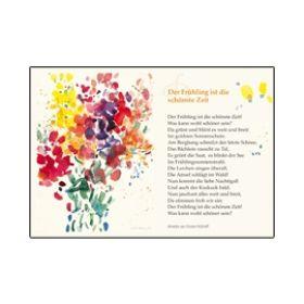 """Kunstkarten Lyrik """"Der Frühling ist die schönste Zeit"""""""