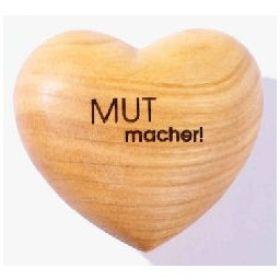 """Handschmeichler Herz """"MUTmacher"""""""