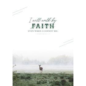 Poster: Walk by faith - A3