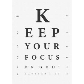 Poster: Keep your focus - A3