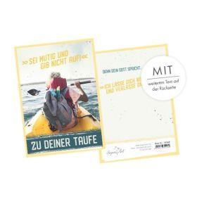 Faltkarte - Zur Taufe - Sei mutig