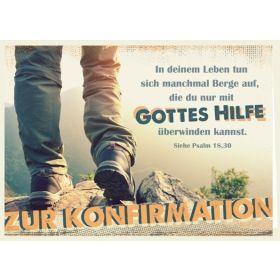 Faltkarte - Zur Konfirmation - Nur mit Gottes Hilfe