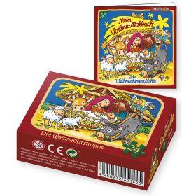 Set-Puzzle & Malbuch: Die Weihnachtskrippe