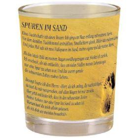 """Windlicht """"Spuren im Sand"""""""