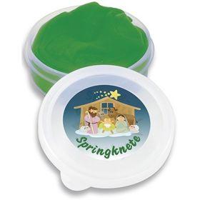 Springknete: Weihnachtskrippe - grün