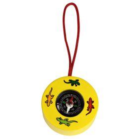 Kompass für Kinder aus Holz - gelb