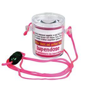 Lupendose rund - neon pink
