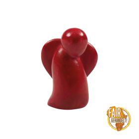Handschmeichler Taschenengel aus Speckstein - rot