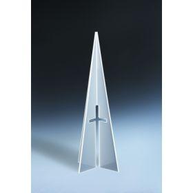 Himmelskreuz halbtransparent weiß - klein