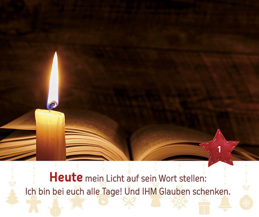 Zünde dein Licht an   Adventskalender