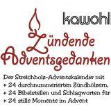 """Streichholz-Adventskalender """"Für besinnliche Tage im Advent"""""""