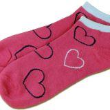 """Sneaker-Socken """"Keiner geht über diese Erde..."""" Mädchen, pink"""